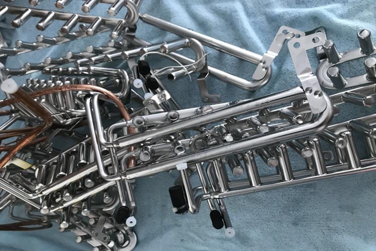 不锈钢制冷配件防锈钝化120小时盐雾测试